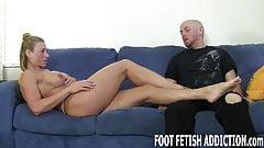 Worship my feet, slave boy