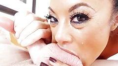 Kaylani Lei deep-throats until her eyes water
