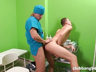 Gay doctor fuck his young patient at work
