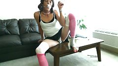 Hung tranny upskirt smoking