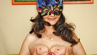 Masked mature lady Marianne