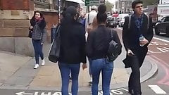 London university bootyx4 (Chase is on) Candid