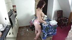 UK Slut Folds Clothes Naked! JOI! WANK!