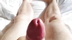 Cock stroking and Cumshot