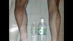 1.5 liter bottle in the ass.