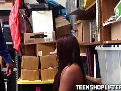 Teen Davina Davis caught stealing and gets fucked for it