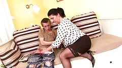 MOM son's best friend hot old and young couple