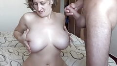Incredible Tits Milf Sucking and Fucking
