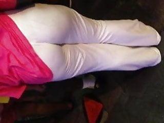 Black Milf booty in white pants