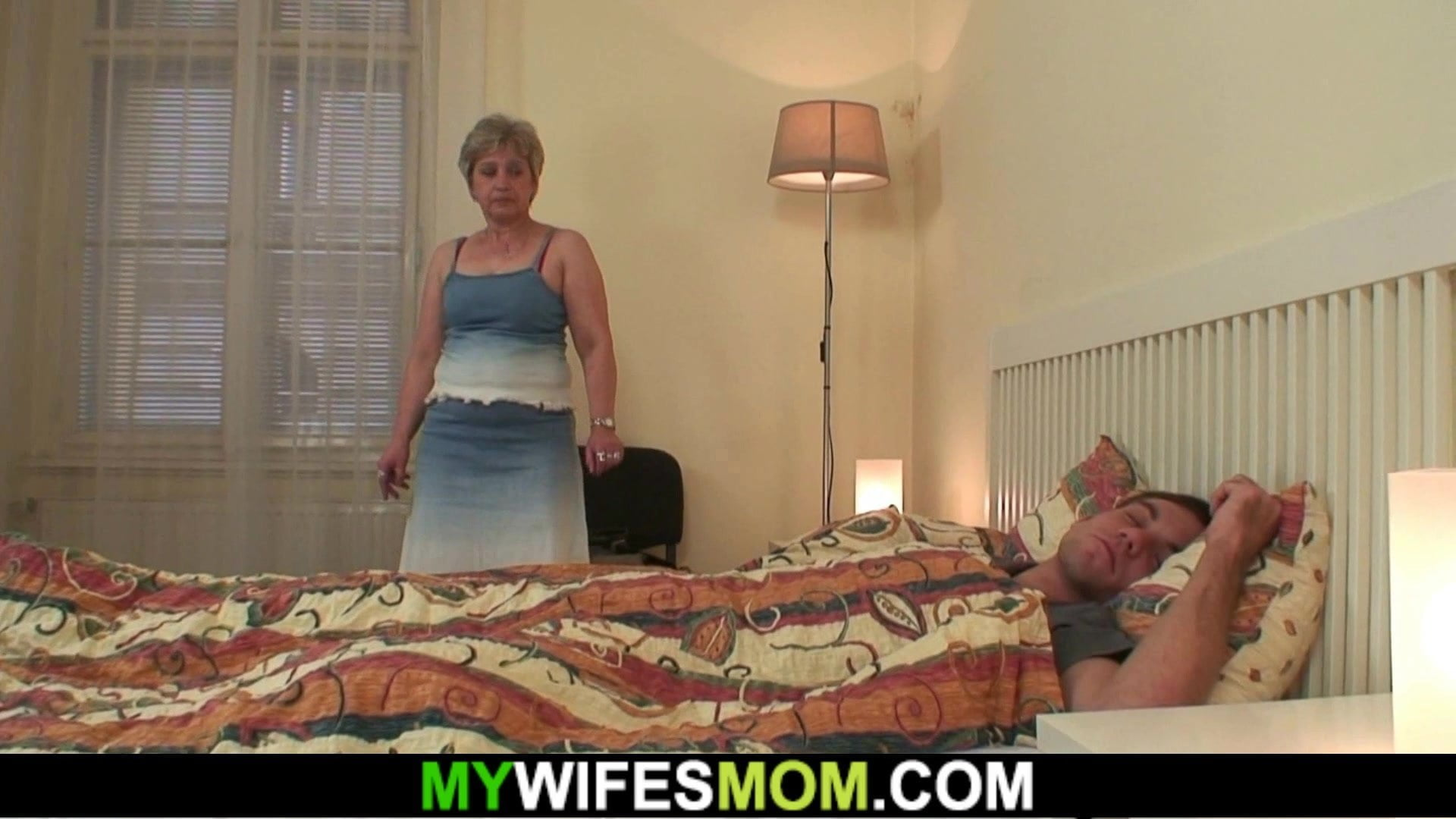 Cock-hungry motherinlaw sucks and rides his cock
