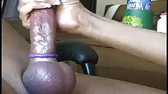 CockRing - Purple Balls Handjob