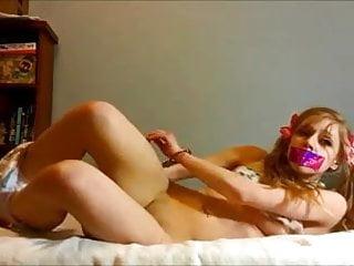 amateur blonde teen masturbates to intense orgasm 2