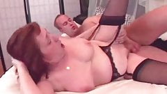 Granny in Black Stockings Fucked