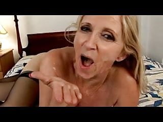 Shaved Granny Fucks A Hard Young Cock !