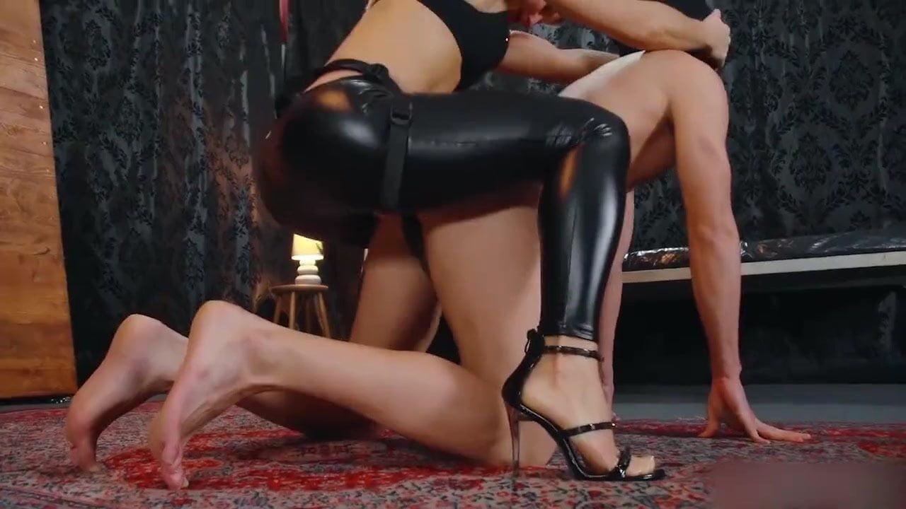 Torture Bondage Pussy with Toilet Brush & Anal Cumshot