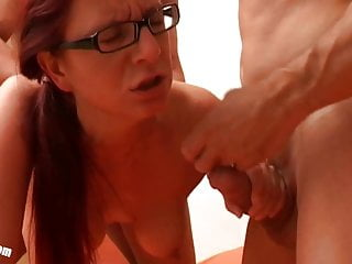 Nicole big Cock threesome casting