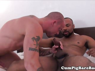 Preview 1 of Muscular black dude barebacking inked hunk