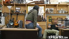 Pretty lady sells her twat and other things in pawnshop
