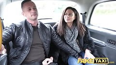 Fake Taxi Horny French wife sharing taxi backseat threesome's Thumb
