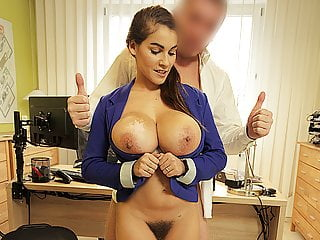 Loank Agent Receives Blowjob And Titjob So Gladly Helps