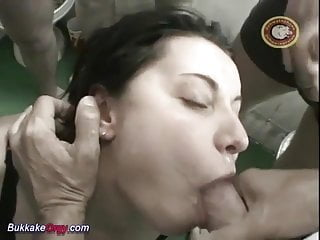 Preview 2 of her first anal bukkake gangbang