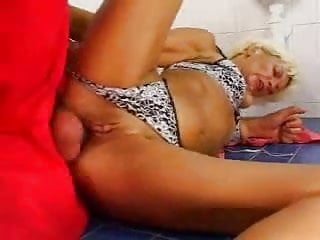 boy shows mature lady his cock 2