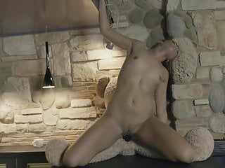 Tall long legs beauty morning sex in kitchen with teddy