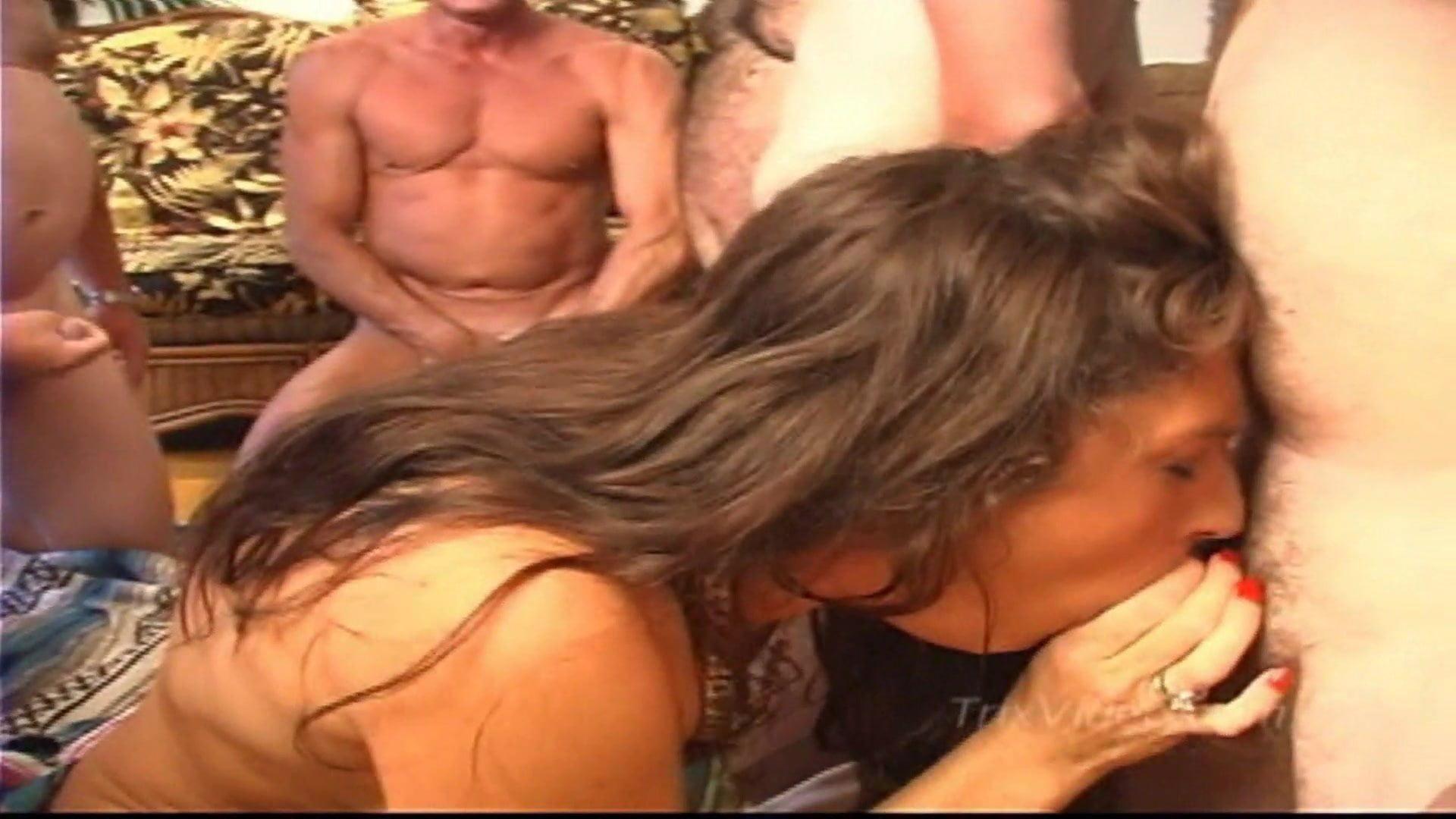 Bang Porn Trailer 10 cum filled cocks and 1 trailer park slut