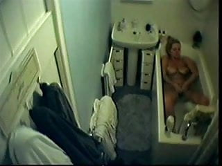 Spycam in my home bathroom caught mom masturbating