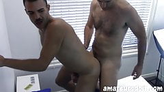 Interviewed amateur stud has hairy ass barebacked before cum