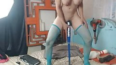 She Fuck Her Pussy And Ass hole Using Her Massive Toys