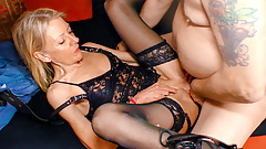 Grannies sucking dick kinky lingerie
