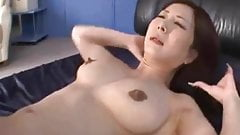 Japanese Milf shows her secret part and digging from behind