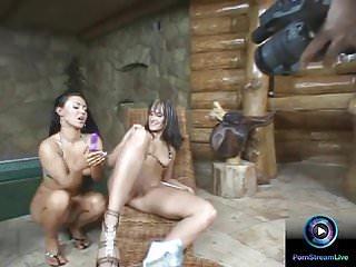 Lovely lesbians having fun on their lesbian sex scenes
