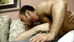 Up his ass: two hairy gays