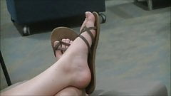 Two girls' feet at orientation's Thumb