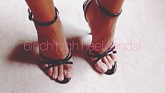 6inch high heel sandal