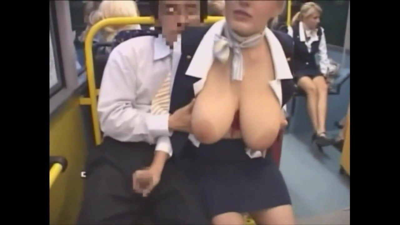 Handjob Busty groping