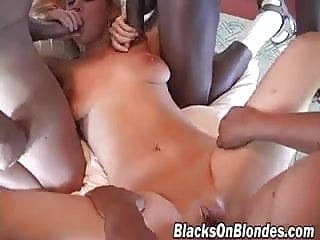 White girl fucked by many black immigrants
