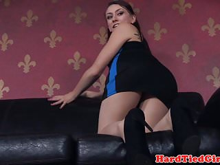 Flogged classy sub tormented while tiedup