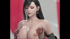 Tease and suck with Tifa