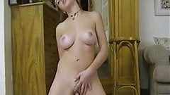 Big boobs Dolly is hotly masturbating the pussy slit