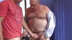 Handsome dad passionate sex