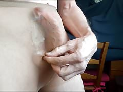 CUMSHOTS  INSIDE MY  WIFE'S  TIGHTS ...