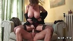 Huge titted mature hard banged