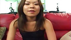 Petite Asian girl gets her ass drilled by a hunk