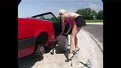 Car Upskirt girl problem with car 6