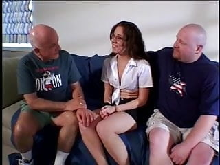 Husband watch his Nerd Wife be fucked by 2 guys
