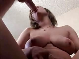 Busty girl gets her tits fucked and cummed on