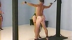 Full frontal and back whipping by two merciless mistresses
